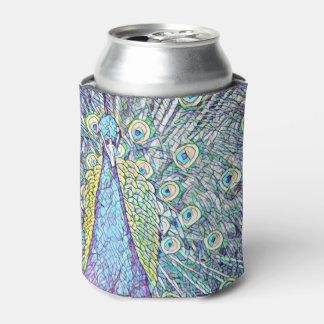 Neverita de bebidas con diseño del pavo real de la