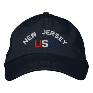 New Jersey los E.E.U.U. bordó el gorra de los azul Gorros Bordados