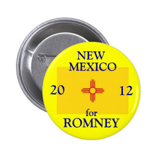New México para Romney 2012 Chapa Redonda De 5 Cm
