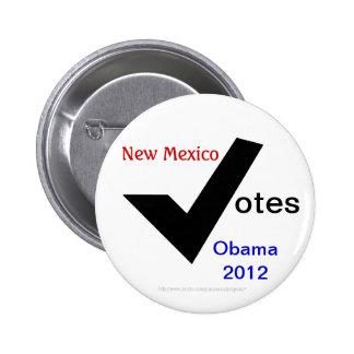 New México vota a Obama 2012 Pin