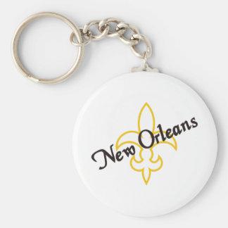 New Orleans Llavero Redondo Tipo Chapa