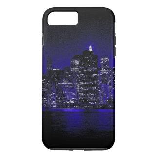 New York City en la noche azul Funda iPhone 7 Plus