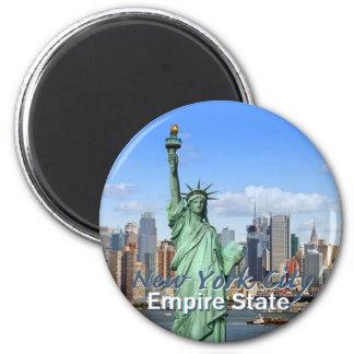 New York City Imán Redondo 5 Cm
