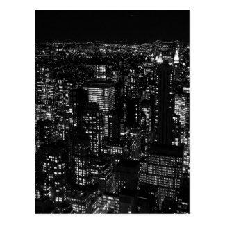 New York City negro y blanco Postal