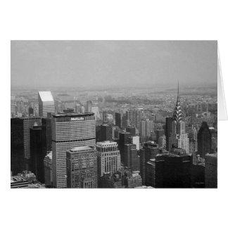New York City, Nueva York Manhattan blanco y negro Tarjeta De Felicitación