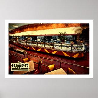 NEW YORK CITY NY, cafetería de Dixon, 8va avenida Póster