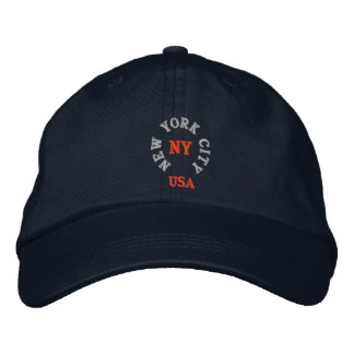 NEW YORK CITY, NY LOS E.E.U.U. GORRAS DE BÉISBOL BORDADAS