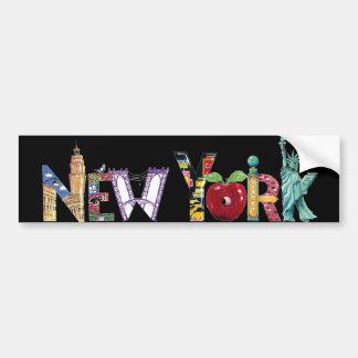 New York City Pegatina Para Coche