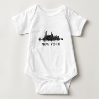 New York Dark-White Skyline v07 Body Para Bebé