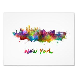 New York V2 skyline in watercolor Foto