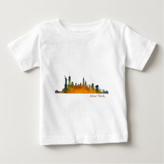 New York watercolor Skyline Camiseta De Bebé