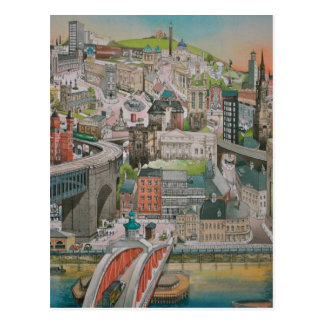Newcastle sobre Tyne a través de la postal de los