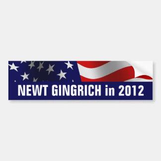 Newt Gingrich para el presidente en 2012 Pegatina Para Coche