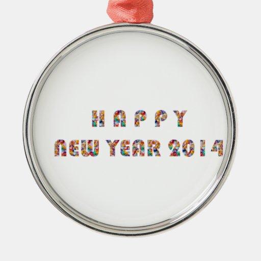 NEWYEAR FELIZ 2014 ORNAMENTS PARA ARBOL DE NAVIDAD
