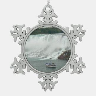 Niagara Falls en el lado canadiense Adorno De Peltre En Forma De Copo De Nieve
