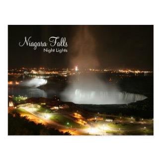 Niagara Falls, luces de la noche - postales