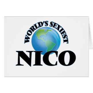 Nico más atractivo del mundo tarjeta pequeña