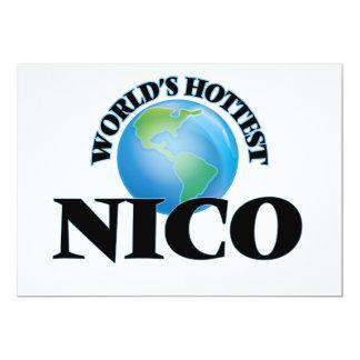 Nico más caliente del mundo invitación 12,7 x 17,8 cm