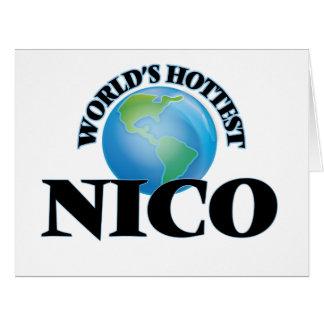 Nico más caliente del mundo tarjeta de felicitación grande