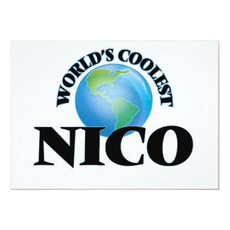 Nico más fresco del mundo invitación 12,7 x 17,8 cm