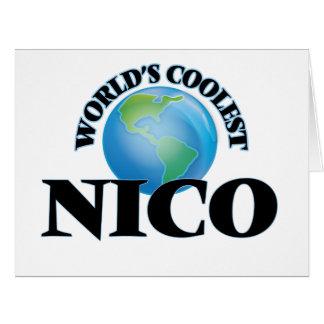 Nico más fresco del mundo tarjeta de felicitación grande