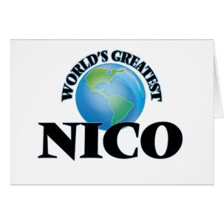 Nico más grande del mundo tarjetas