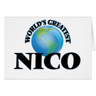 Nico más grande del mundo tarjeta