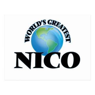 Nico más grande del mundo tarjetas postales