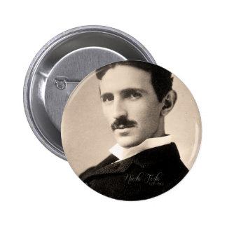 Nicola Tesla Photo Botón