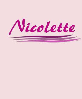 Nicolette de encargo camisetas