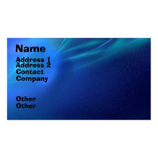 Niebla azul del fractal tarjetas de negocios