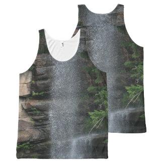 Niebla de la cascada camiseta de tirantes con estampado integral