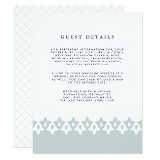 Niebla de la tarjeta de detalles de la huésped del invitación 10,8 x 13,9 cm