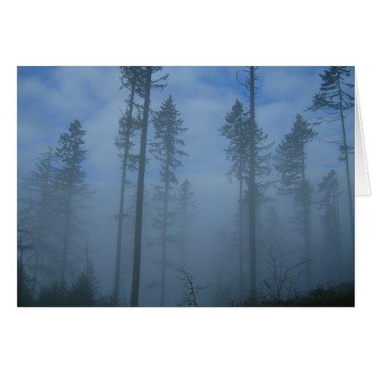 Niebla del claro tarjeta de felicitación