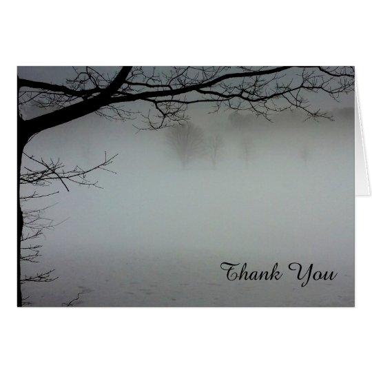 Niebla en un día de invierno en Maine Tarjeta De Felicitación