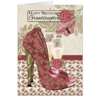Nieta Champán y mariposa de los zapatos Tarjeta De Felicitación