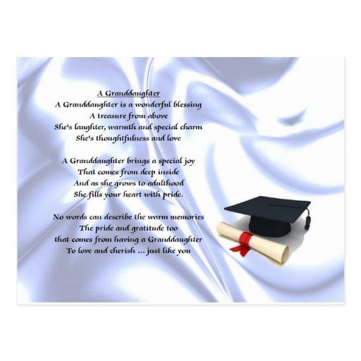 Nieta de la graduación postales