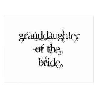 Nieta de la novia postal
