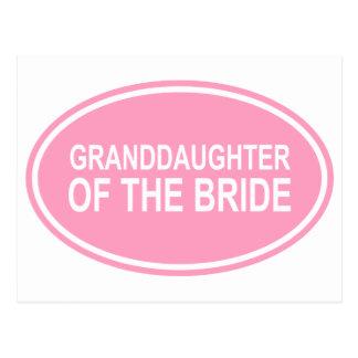 Nieta de la novia que casa rosa oval postal