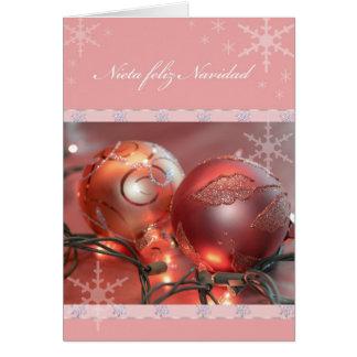 Nieta Feliz Navidad Felicitacion