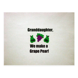 ¡Nieta, hacemos una pera de uva! Postal