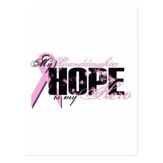 Nieta mi héroe - esperanza del cáncer de pecho postal