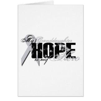 Nieta mi héroe - esperanza del pulmón tarjeta de felicitación