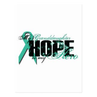 Nieta mi héroe - esperanza ovárica tarjetas postales
