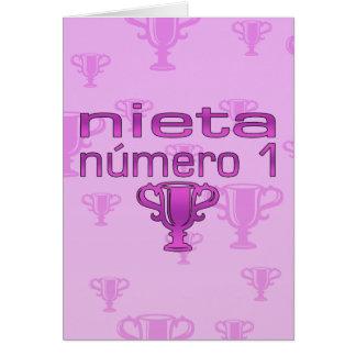 Nieta Número 1 Tarjeta De Felicitación
