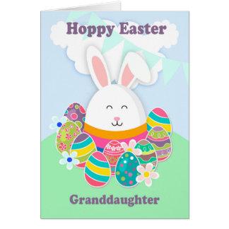 Nieta, Pascua de lúpulo con el conejo, tarjeta