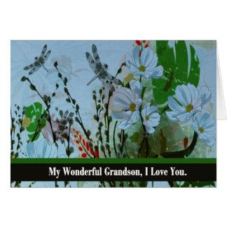 Nieto, adiós del abuelo terminal enfermo tarjeta de felicitación