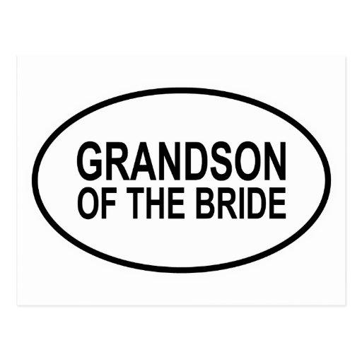 Nieto de la novia que casa óvalo tarjeta postal