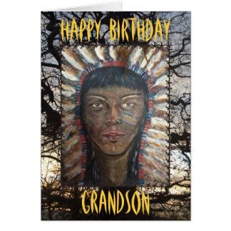 Nieto del feliz cumpleaños tarjeta de felicitación