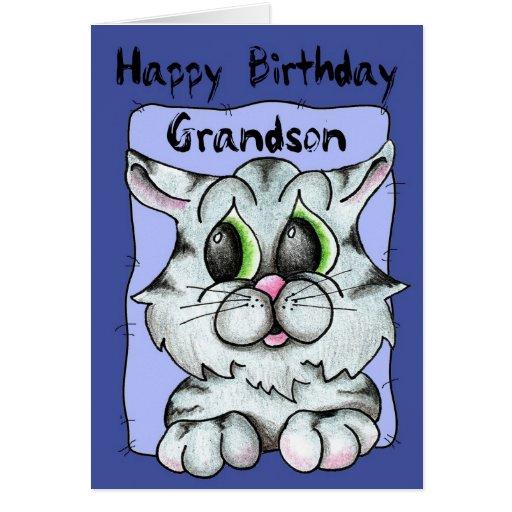 Nieto del feliz cumpleaños tarjeta